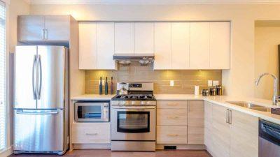 new appliance installation in kitchen remodel